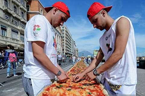 بزرگترین پیتزای ناپلی جهان در ایتالیا