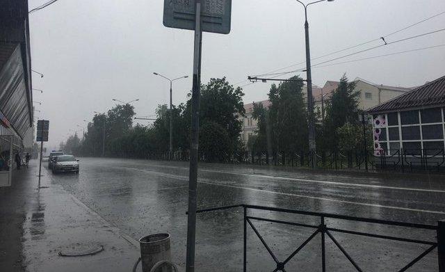 باران شدید باران در کازان