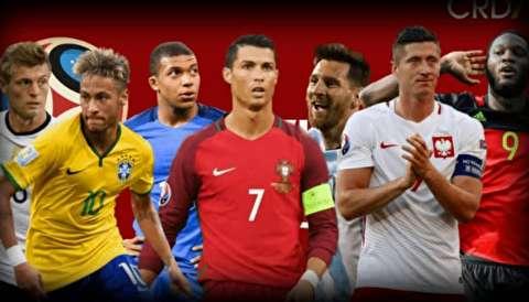 رونمایی فیفا از پیراهن تیمهای حاضر در جامجهانی