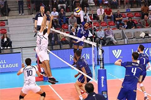 خلاصه لیگ ملتهای والیبال: فرانسه ۳-۱ ایران