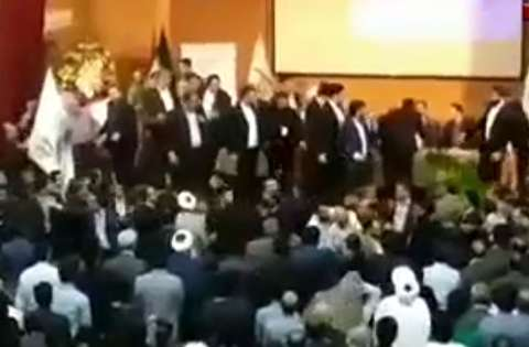 درگیری شدید در کنگره حزب اعتماد ملی