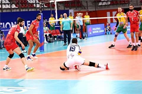 خلاصه لیگ ملتهای والیبال: استرالیا 0-3 ایران