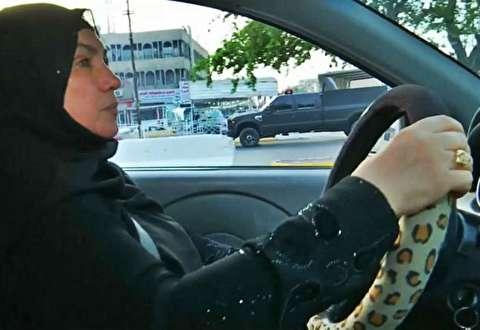 اولین زن راننده تاکسی در عراق