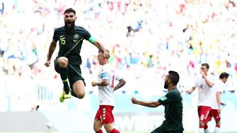 خلاصه بازی دانمارک - استرالیا
