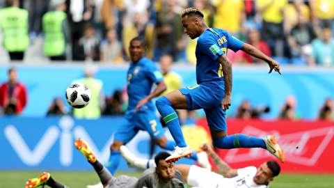 خلاصه بازی برزیل - کاستاریکا