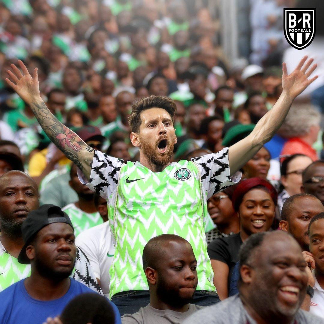 مسی پیراهن نیجریه را به تن کرد!