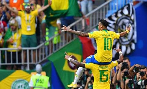 خلاصه بازی برزیل - مکزیک