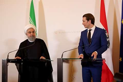 نشست خبری روحانی با صدراعظم اتریش