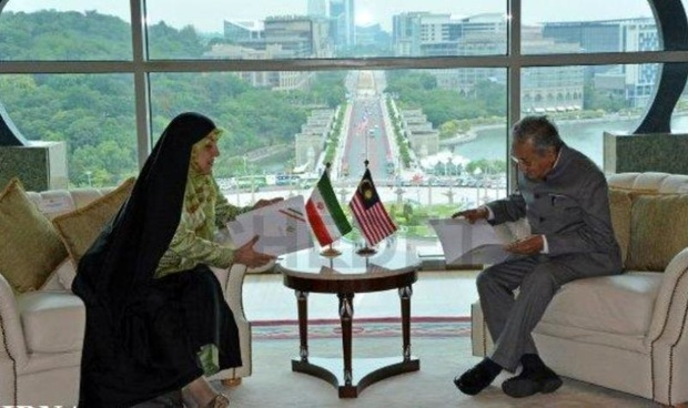 عصومه ابتکار با نخست وزیر مالزی دیدار کرد