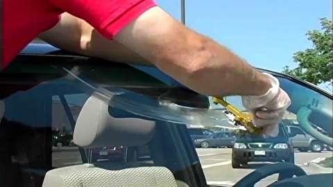 روش ترمیم ترک شیشه جلو خودرو 43 سانتیمتری