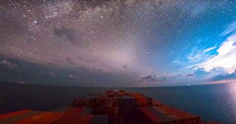 تجربه دیدنی سی روز سفر روی دریا