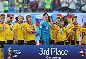 تصاویر اهدای مدال سومی جام جهانی به تیم بلژیک