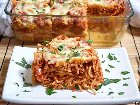 دستور پخت اسپاگتی در فر