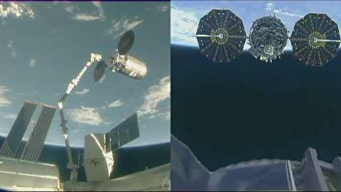 خروج فضاپیمای سیگنوس از ایستگاه فضایی