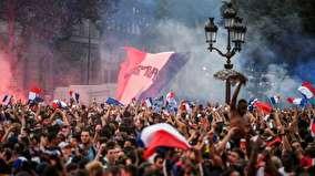شادی فرانسویها پس از قهرمانی در جام جهانی