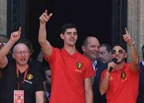 استقبال حماسی از تیم فوتبال بلژیک