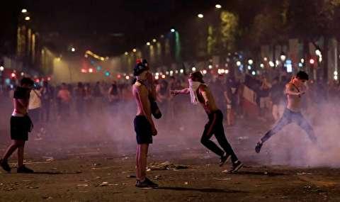 شورش در پاریس پس از قهرمانی جام جهانی
