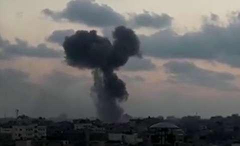 بمباران سنگین غزه توسط جنگندههای اسرائیلی