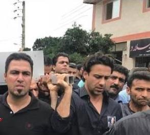 مراسم خاکسپاری پدر فرهاد مجیدی در مازندران