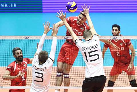 خلاصه بازی والیبال ایران - آلمان
