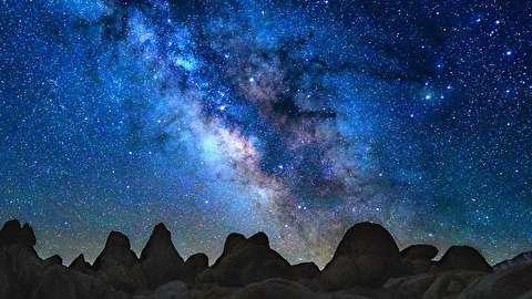 آسمان پرستاره در بیابان آتاکاما