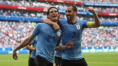 خلاصه بازی اروگوئه - روسیه