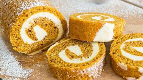 طرز تهیه رول شیرینی کدو تنبل