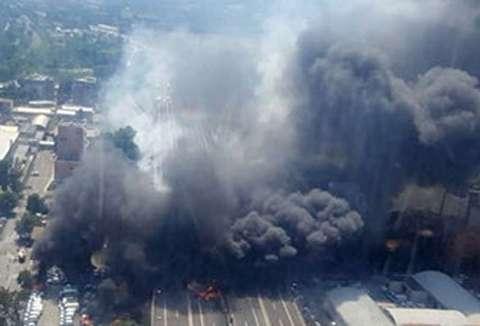 انفجار تانکر حامل سوخت در بولونیای ایتالیا