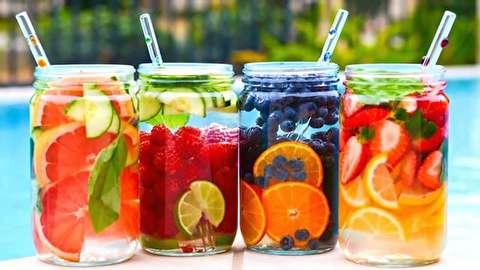 طرز تهیه دوازده نوع آب طعمدار