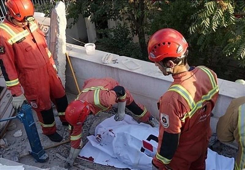مرگ کارگر جوان زیر قطعات بتن منزل ویلایی