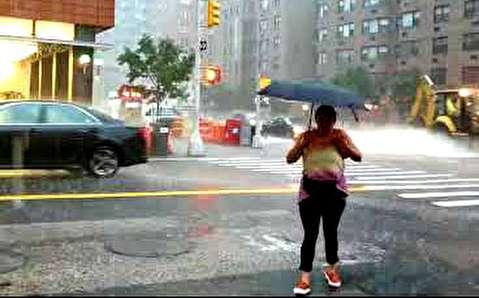 منهتن نیویورک غرق در آب!
