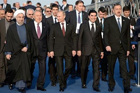مراسم امضای کنوانسیون رژیم حقوقی دریای خزر