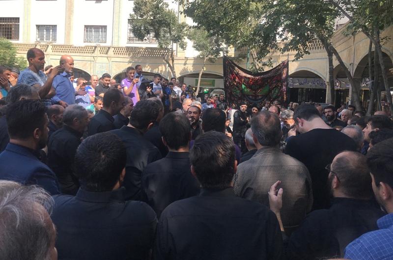 بازاریان تهران عزاداری کردند