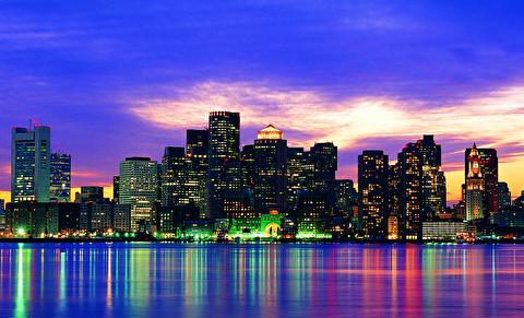 تماشای بوستون از فراز آسمان