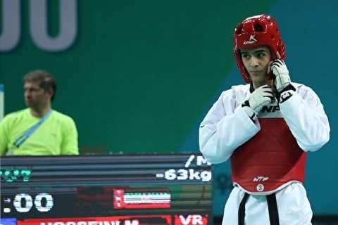 مبارزه فینال حسینی در تکواندو بازیهای آسیایی