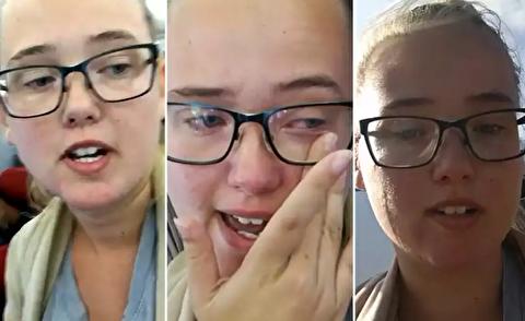 جنجال زن سوئدی برای جلوگیری از اخراج یک پناهجو