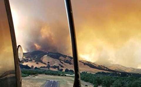 گستردگی آتش سوزی در کالیفرنیا از آسمان
