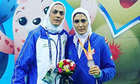 اشکهای خواهران منصوریان پس از کسب مدال نقره