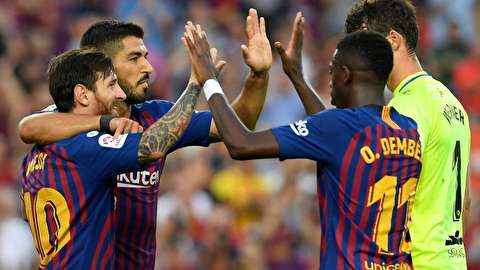 گزیده بازی بارسلونا - اونسکا