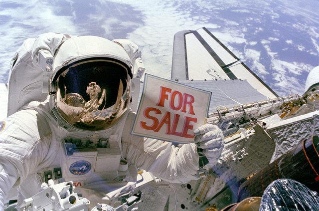 ناسا به فروش میرسد