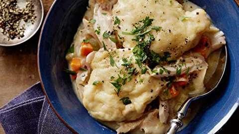 دستور پخت مرغ و دامپلینگ