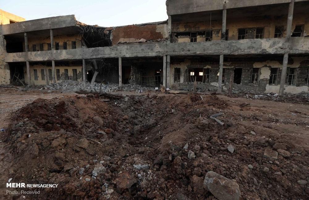 مقر گروهک حزب دموکرات پس از انهدام