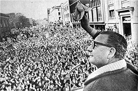 تحلیف سالوادور آلنده اولین مارکسیست دموکرات