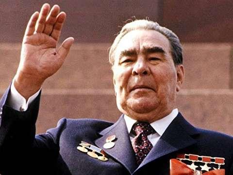 پشت صحنه سخنرانی لئونید برژنف رهبر شوروی