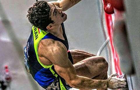قهرمانی علیپور در صخره نوری قهرمانی جهان