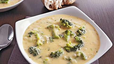 دستور پخت سوپ کلم بروکلی و پنیر