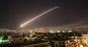 Syrian air defences intercept missiles fired at Latakia