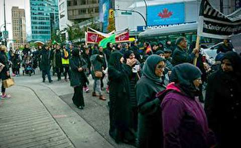 حضور پرشمار مسلمانان کانادا در عزاداری محرم
