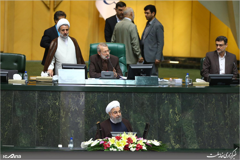 جلسه علنی سئوال از رئیسجمهور آغاز شد/ حضور روحانی در مجلس