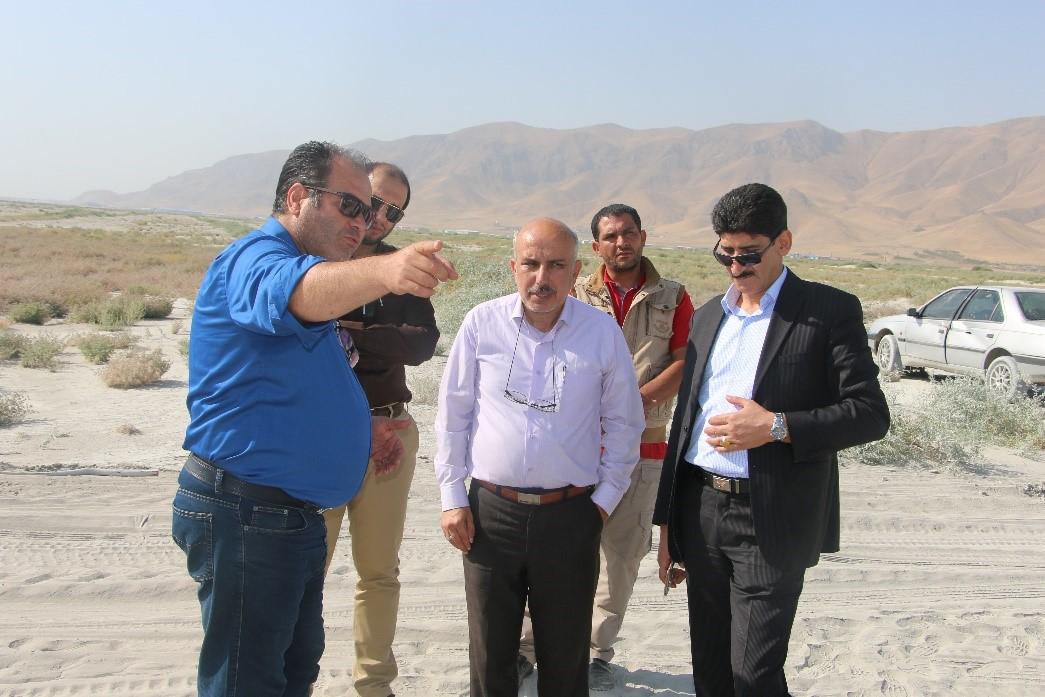 بازدید نماینده ریاست جمهوری از پروژه احیای دریاچه ارومیه